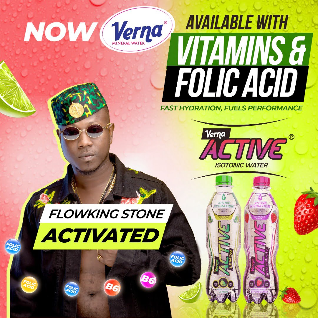 Flowking Stone and Strongman Preach 'Active Hydration'With The New Verna Active