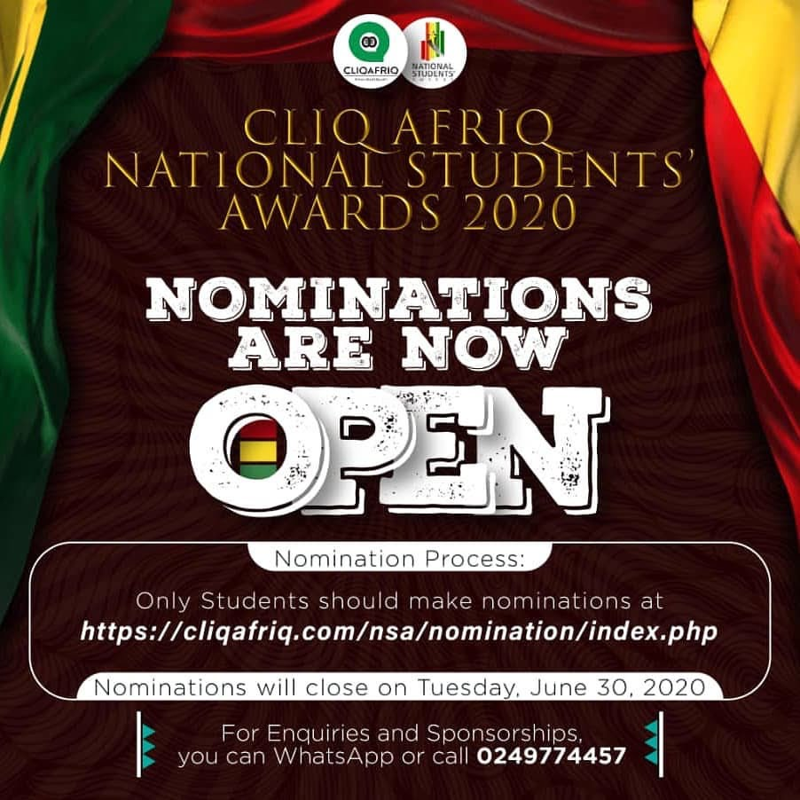 CLIQAFRIQ NATIONAL STUDENTS' AWARDS '20OFFICIAL OPENING OF NOMINATIONS