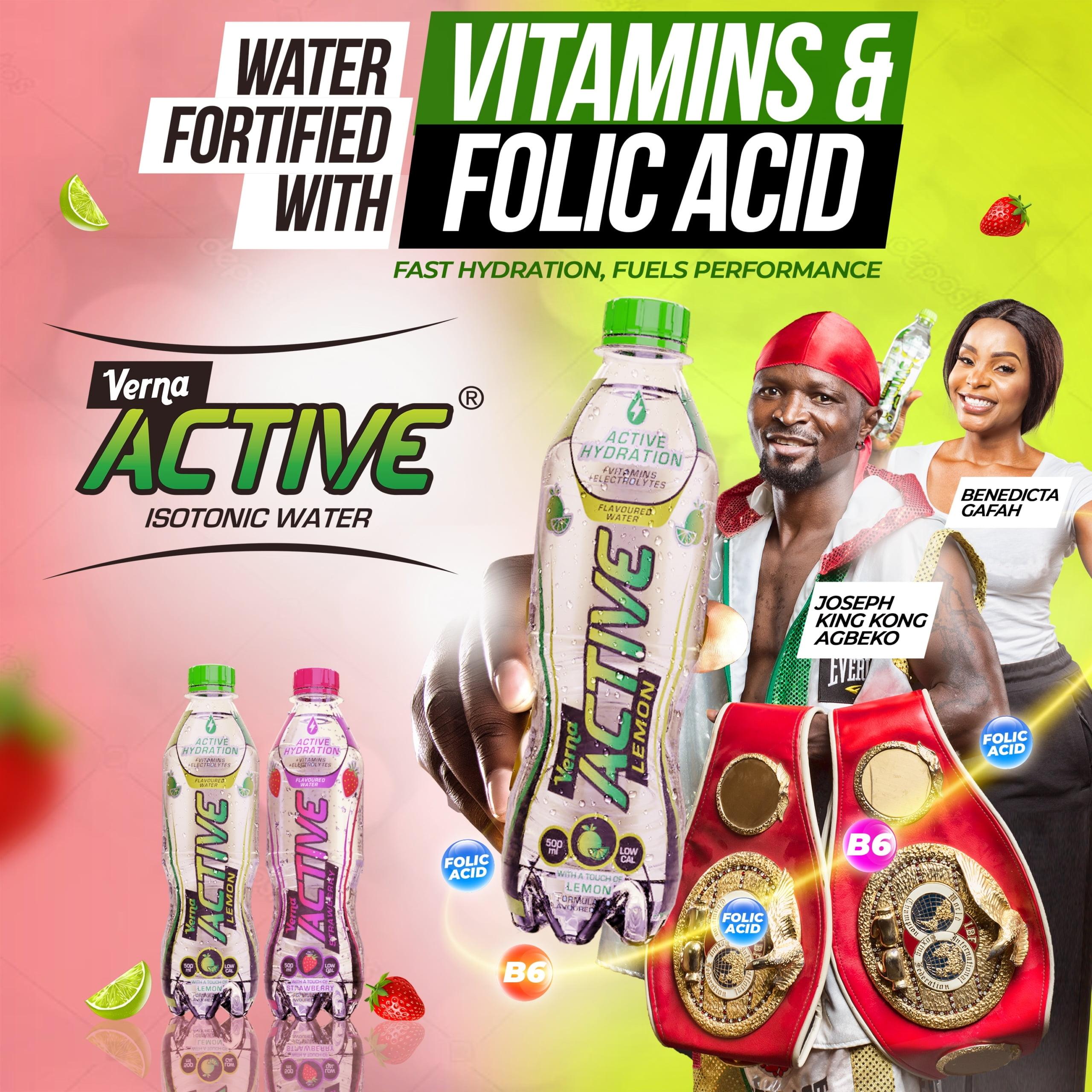 Twellium Ghana Launches New Formulated Verna Active Water, Unveils World Champion Joseph Agbeko As Brand Ambassador