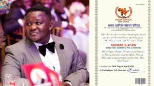 Jeremiah Quayson honoured