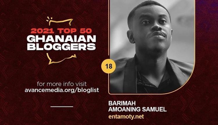 Entamoty listed among top 50 Ghanaian blogs by Avance Media